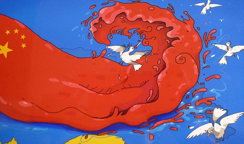 a-caricature-shows-the-cows-tongue-of-china-frightening-doves-a-symbol-of-peace-and-destroying-the-whole-east-vietnam-sea-49388-s